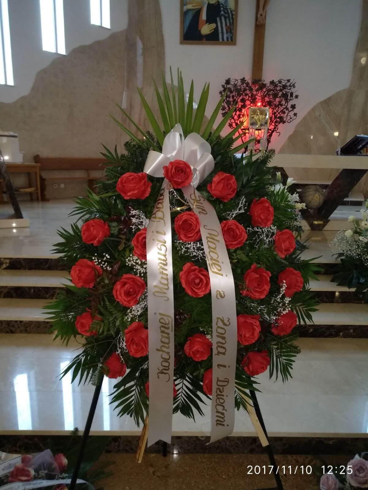 wieniec pogrzebowy z dedykacją